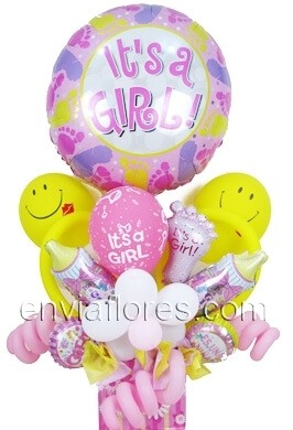 Diseño de Globos It's a Girl