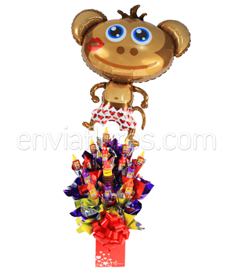 Candy Bouquet Party Lucas con Globo Grande