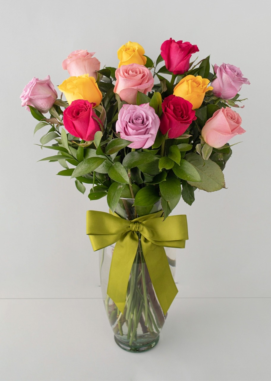 Imagen para 12 Rosas Arcoíris - 1