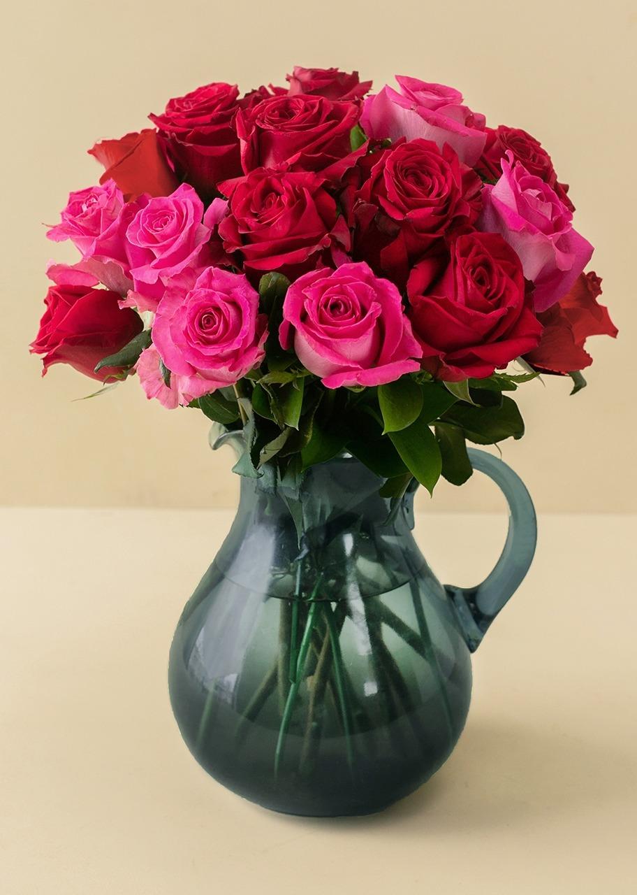 Imagen para 18  Rosas Combinadas en Jarra - 1
