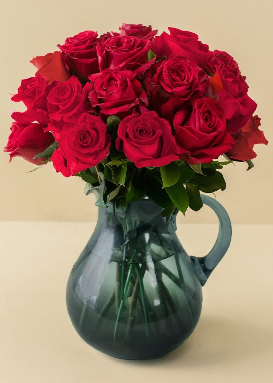 Imagen para 18 Rosas Rojas en jarra - 1