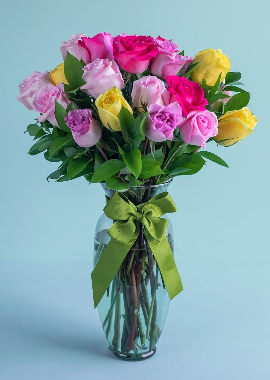 Imagen para 24 Rosas Arcoíris - 1
