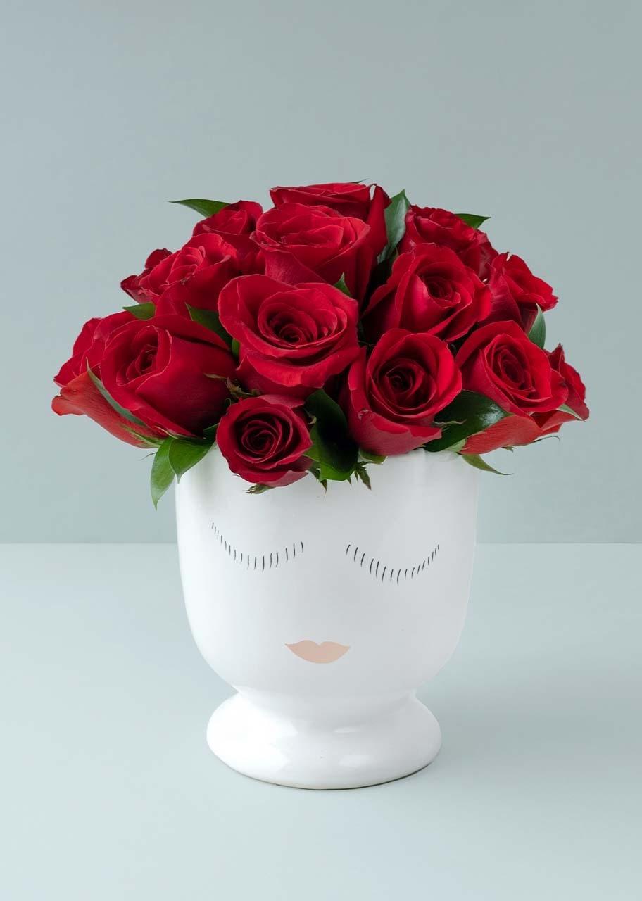 Imagen para 24 Rosas Rojas en Base - 1