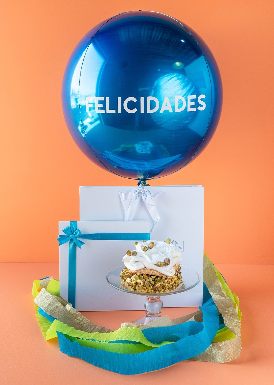 "Imagen para Certificate ""O."" Massage with Pistachio Cake and Balloon ""Felicidades"" - 1"