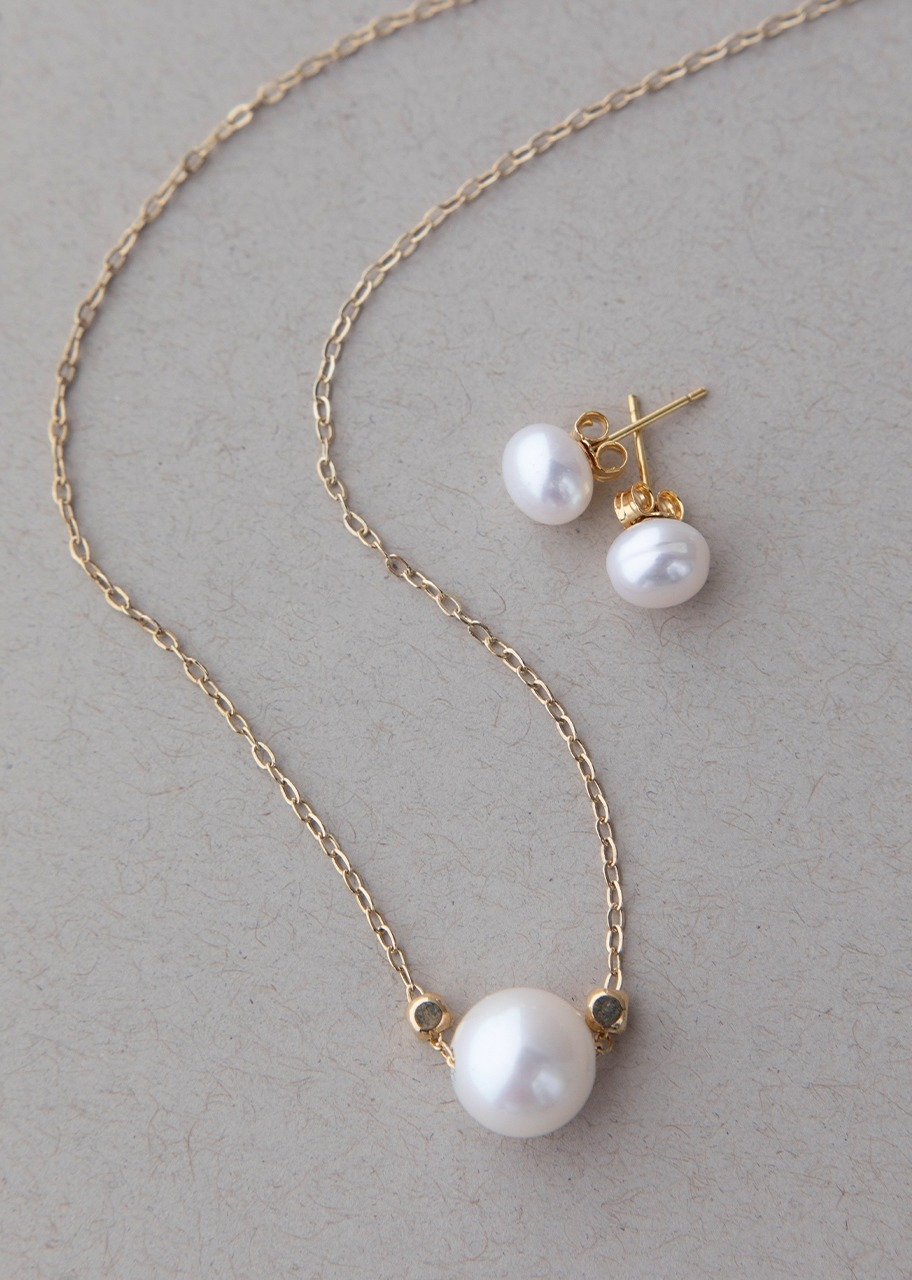 Imagen para Set de Collar de Perla con Aretes - 1