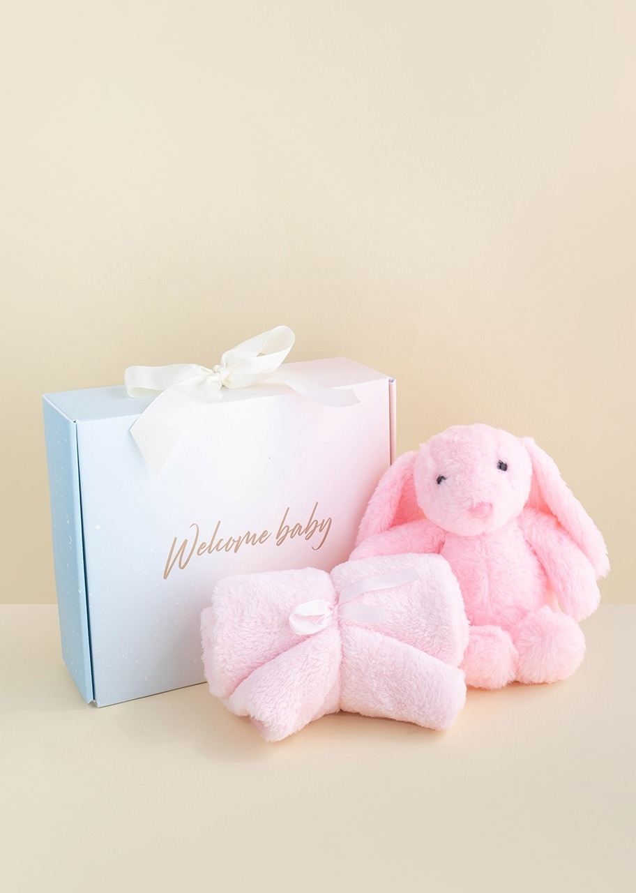 """Imagen para Caja """"Welcome Baby"""" para Niña - 1"""