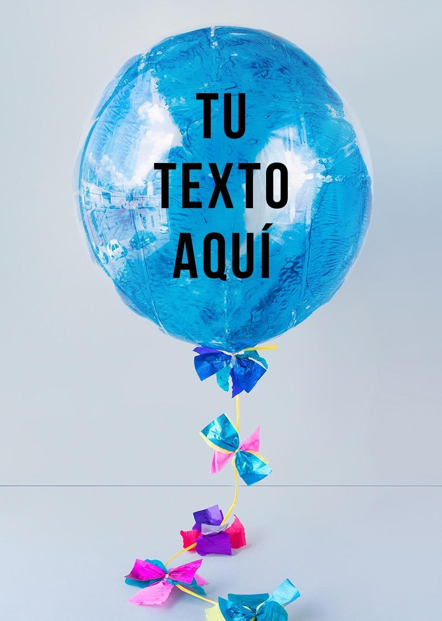 Imagen para Personaliza tu Globo Burbuja Azul - 1