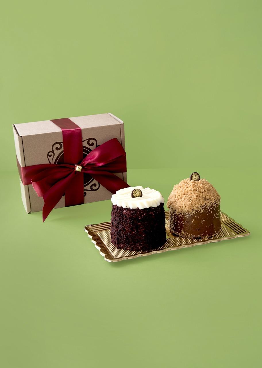 Imagen para Pasteles individuales platano nutella y red velvet - 1