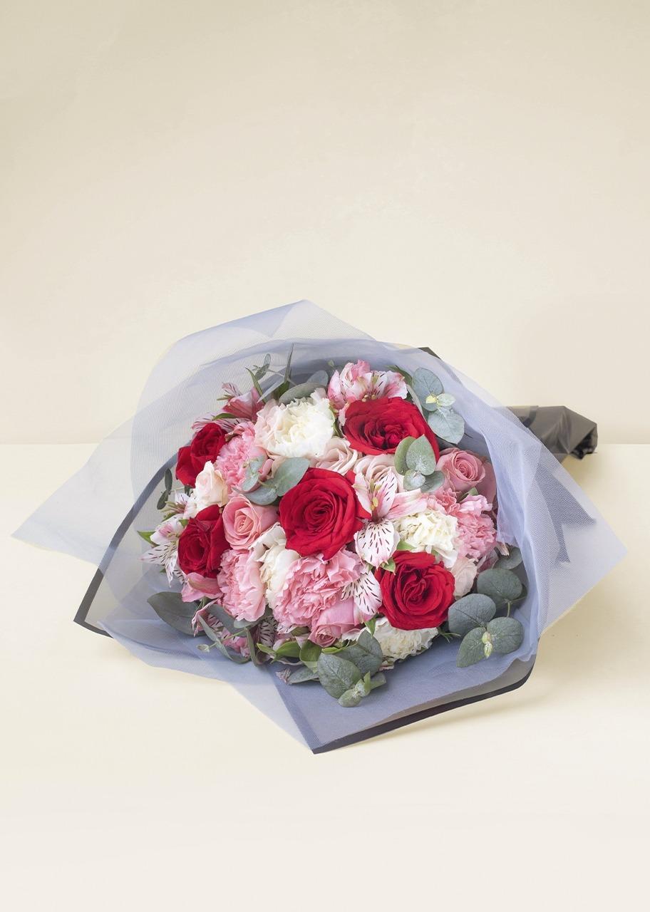 Imagen para Ramo de 9 Rosas y Mini Rosas - 1