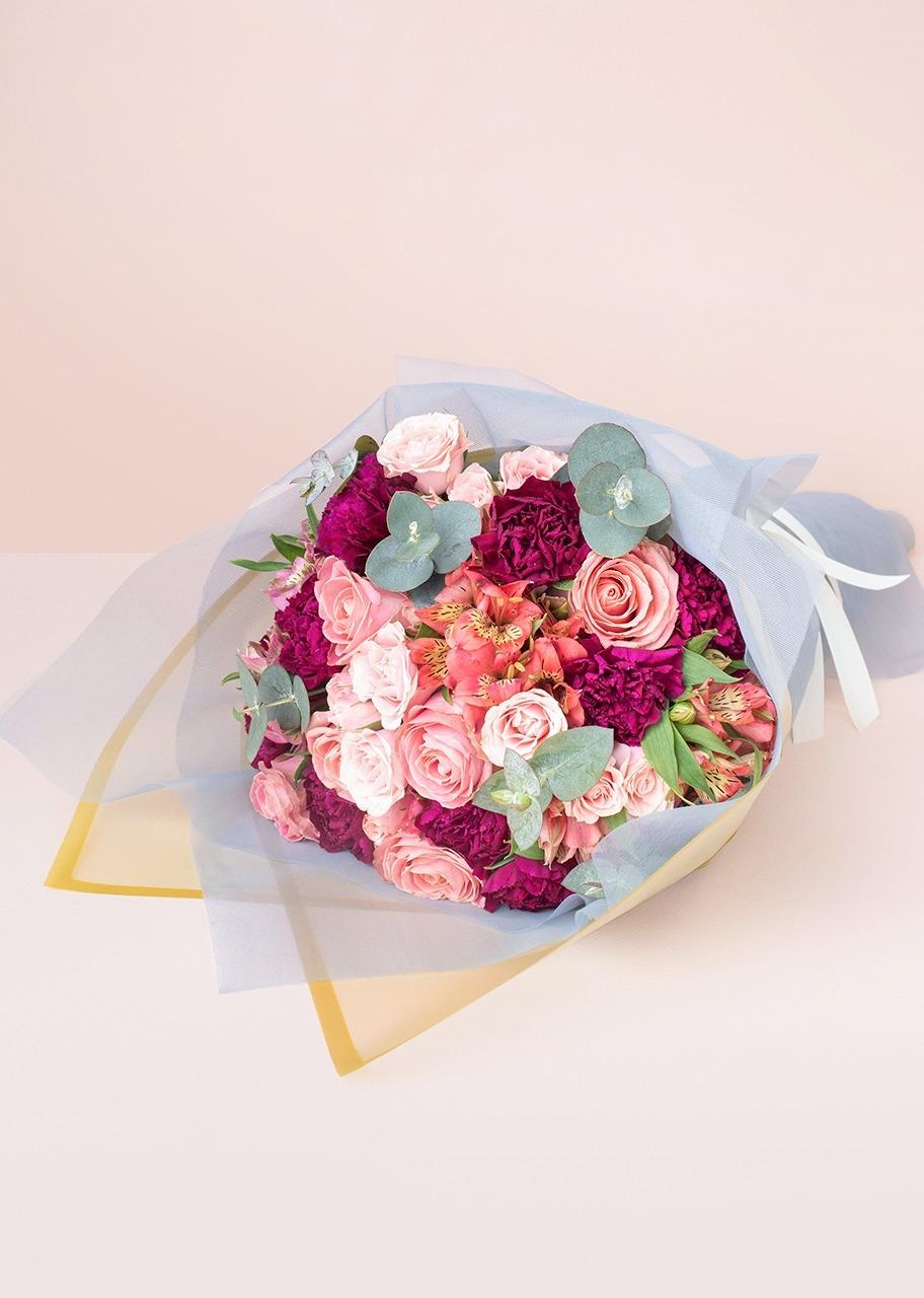 Imagen para Ramo de 6 Rosas y Mini Rosas - 1