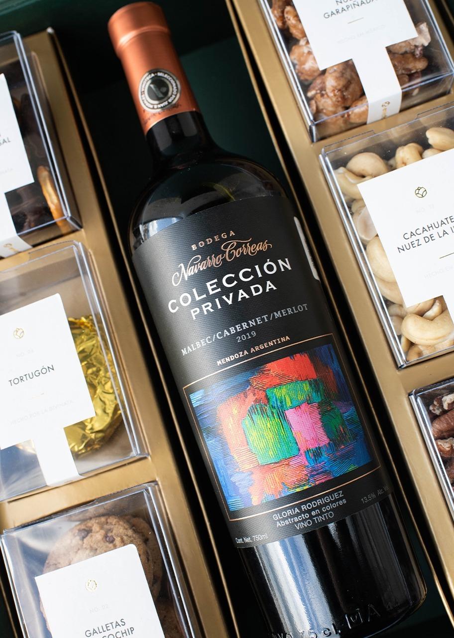 Imagen para Canasta grande Vino tinto Navarro Correas Colección Privada Blend - 1
