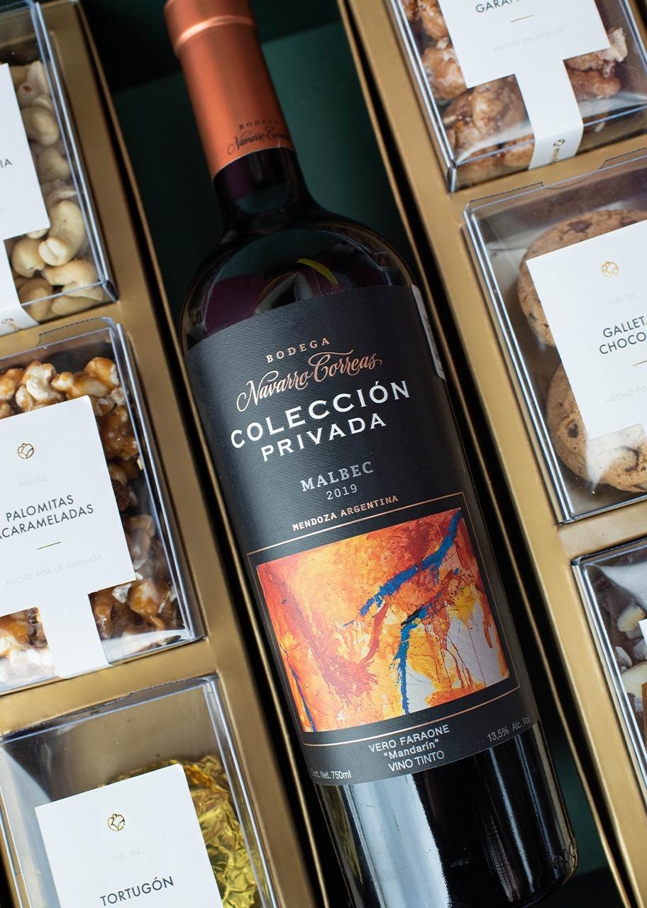 Imagen para Canasta grande Vino tinto Navarro Correas Malbec - 1