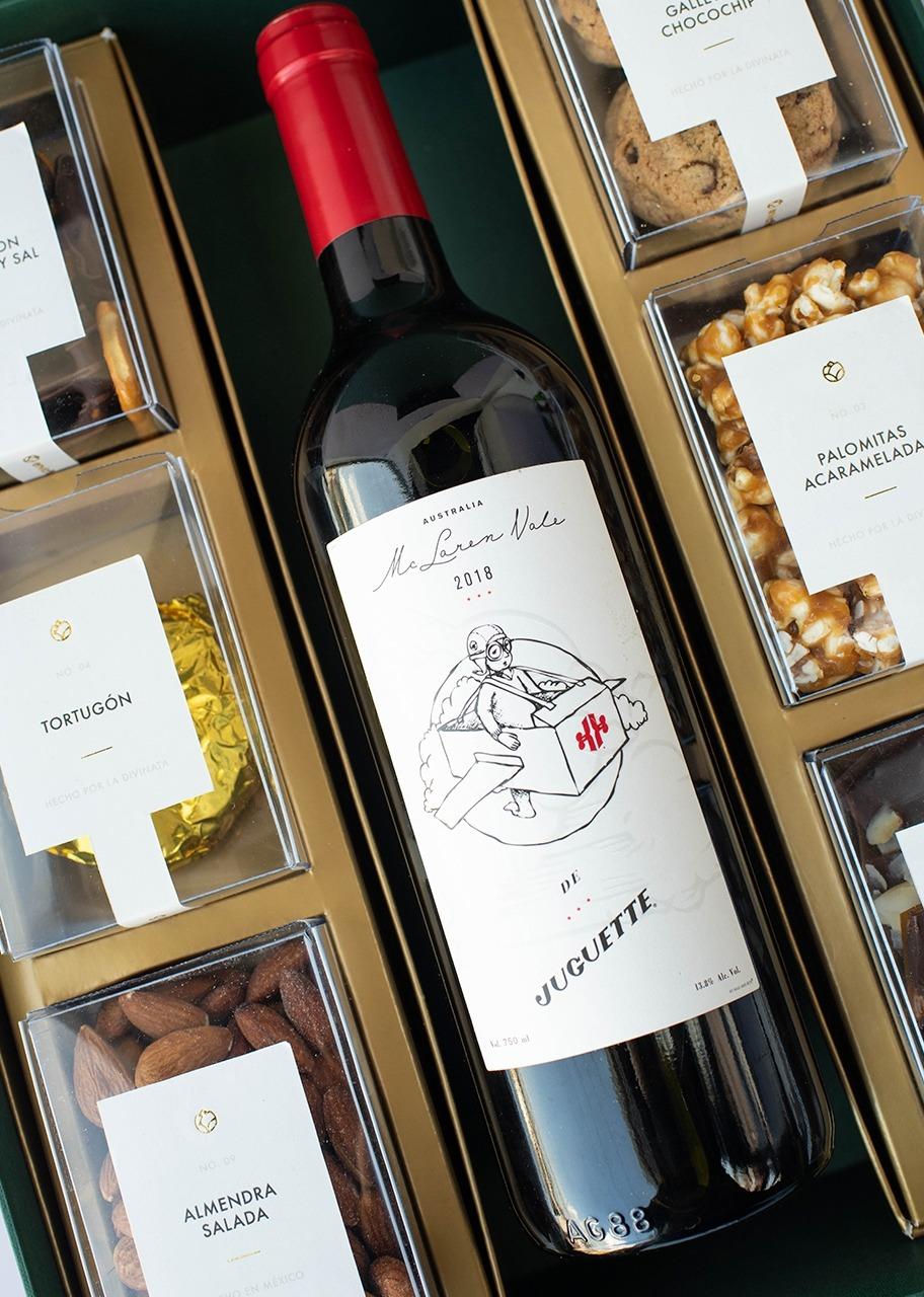 Imagen para Canasta grande Vino Tinto El Avión de Juguette - 1