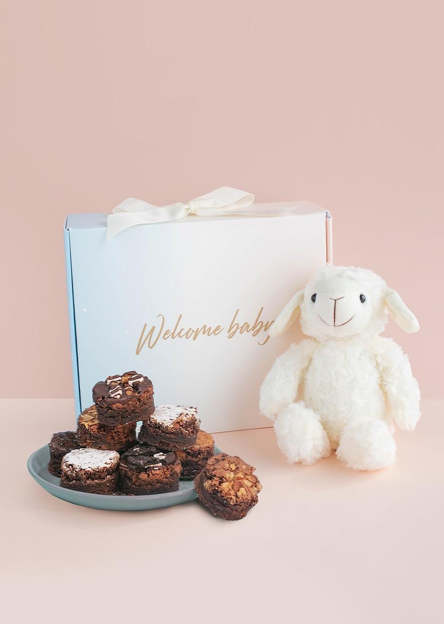 "Imagen para Caja ""Welcome Baby"" con Brownies - 1"