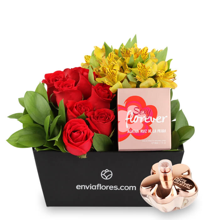 Imagen para Sexy Florever Perfume Gift with Roses - 1
