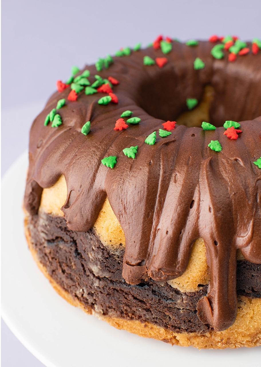 Imagen para Rosca marmoleada con chocolate - 1