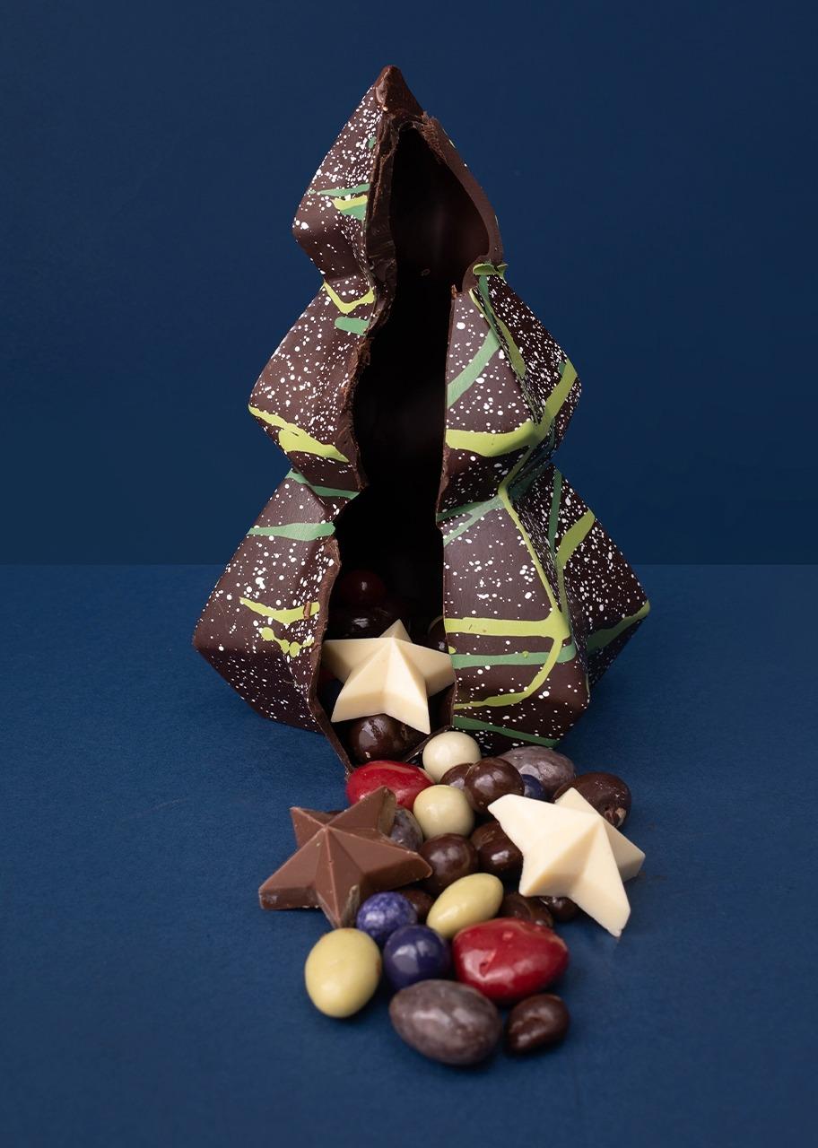 Imagen para pino de chocolate relleno de dragees - 1