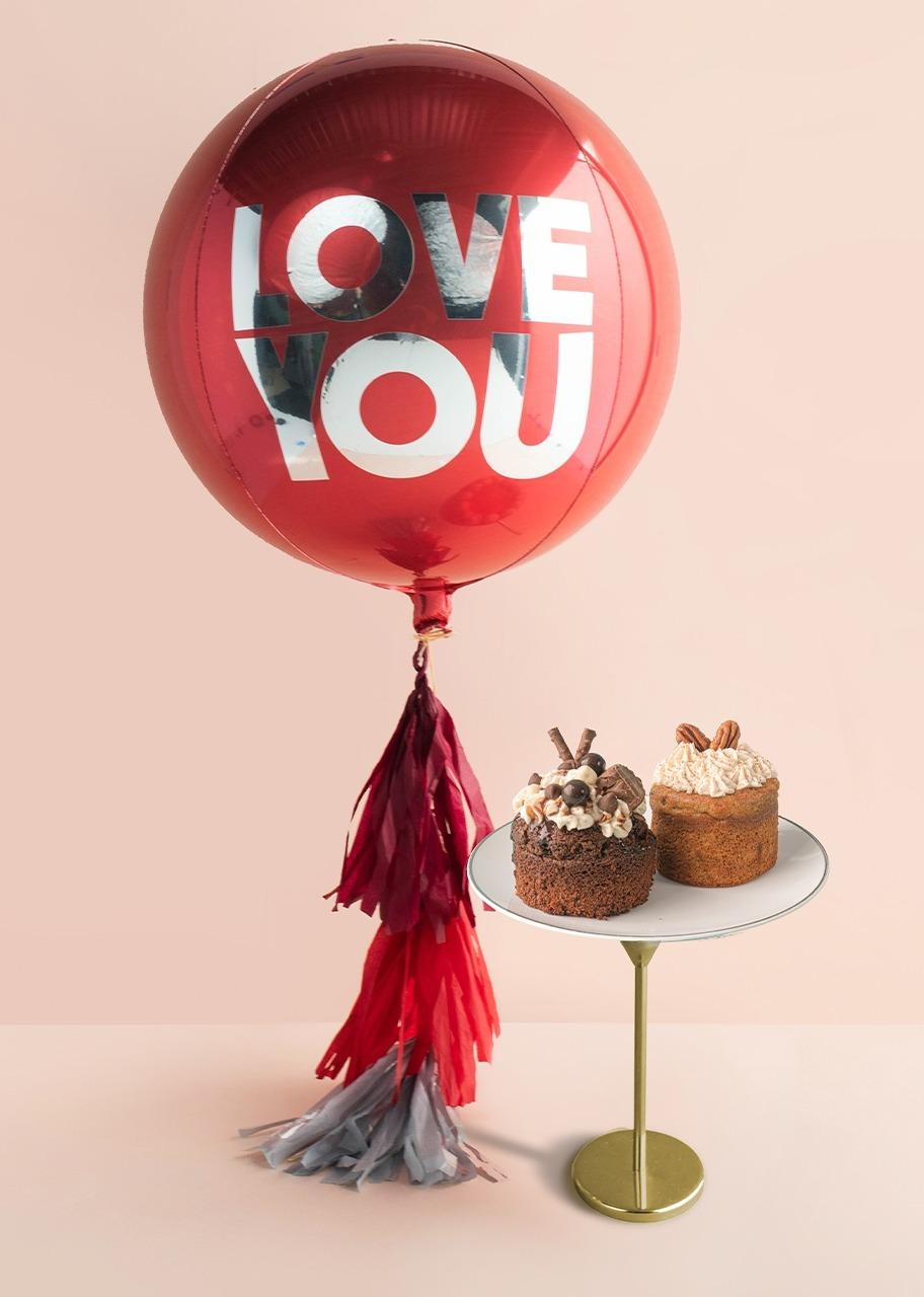 Imagen para Pasteles individuales con globo rojo - 1