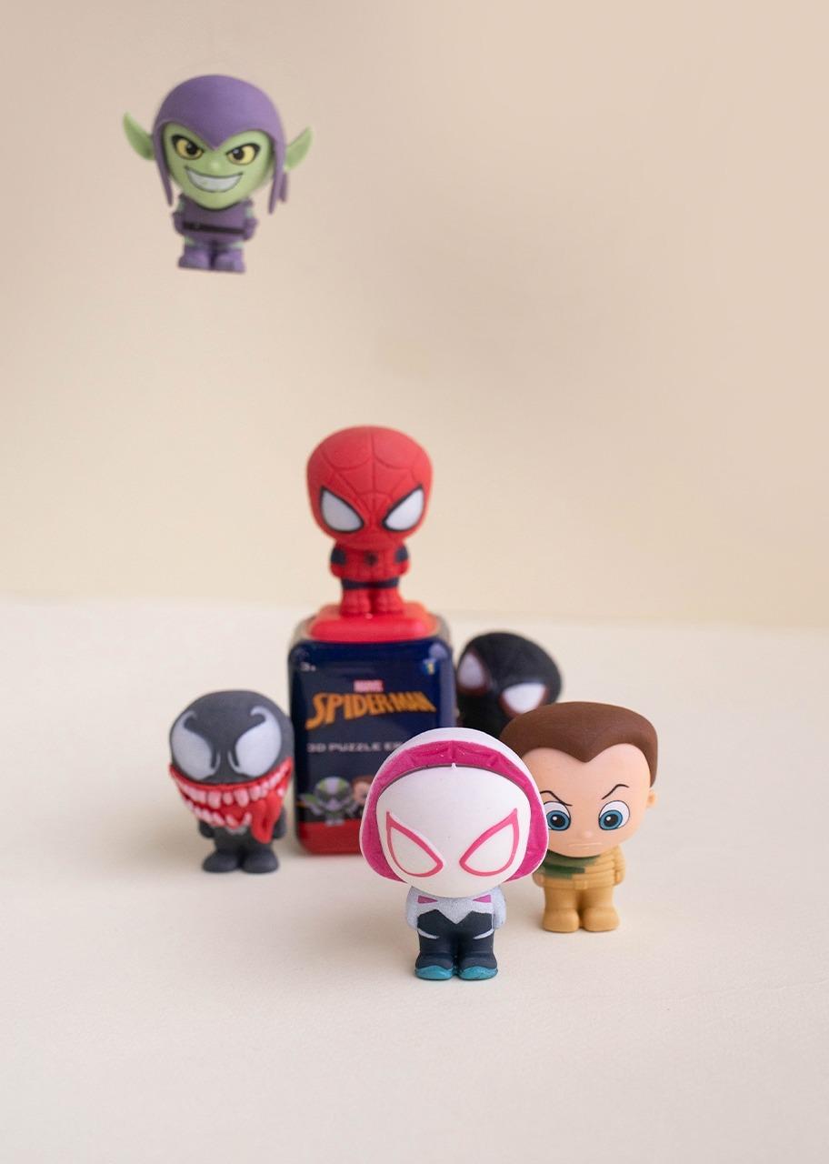 Imagen para Set De Borradores Rompecabezas Spiderman - 1