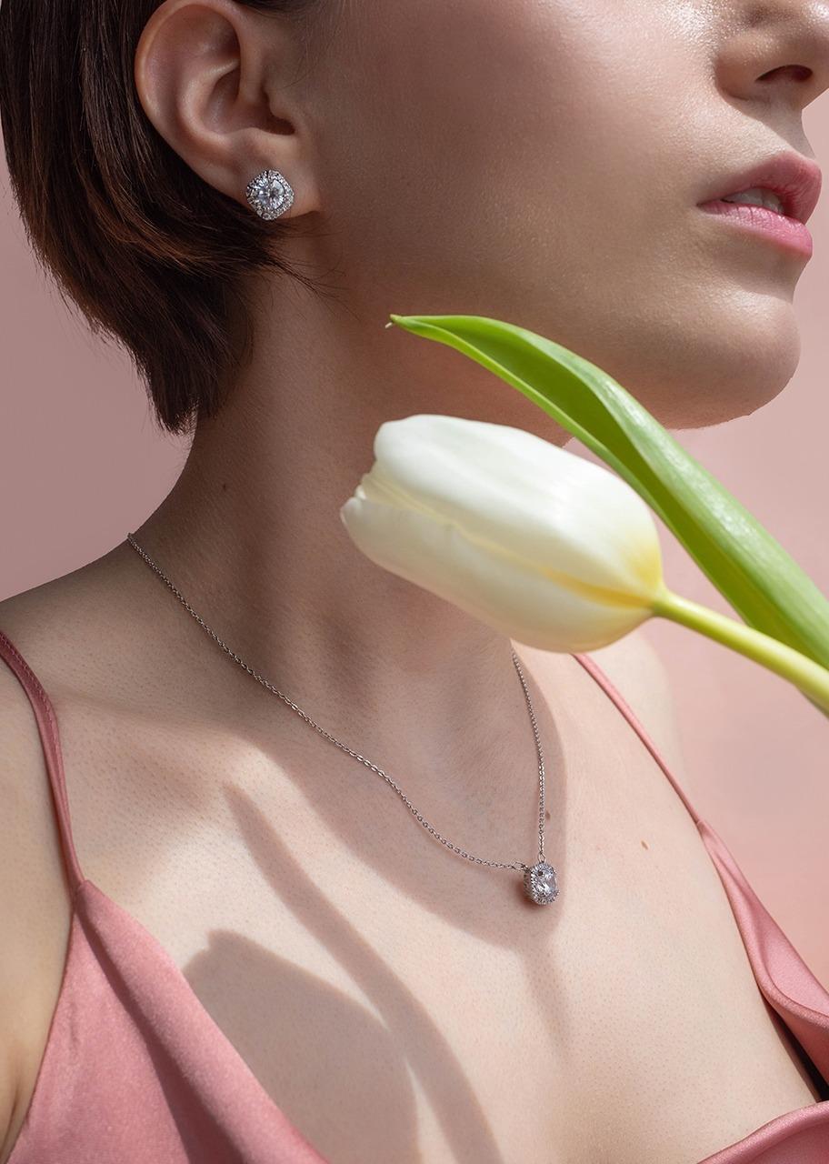 Imagen para Set De Collar Y Aretes De Circonia - 1