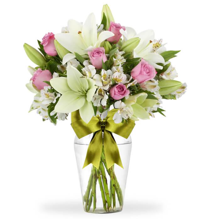 Imagen para Inspiración con 6 Rosas y Alstroemerias - 1