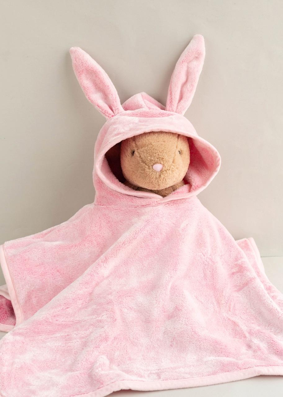 Imagen para Poncho Conejo Rosa Baby Mink - 1