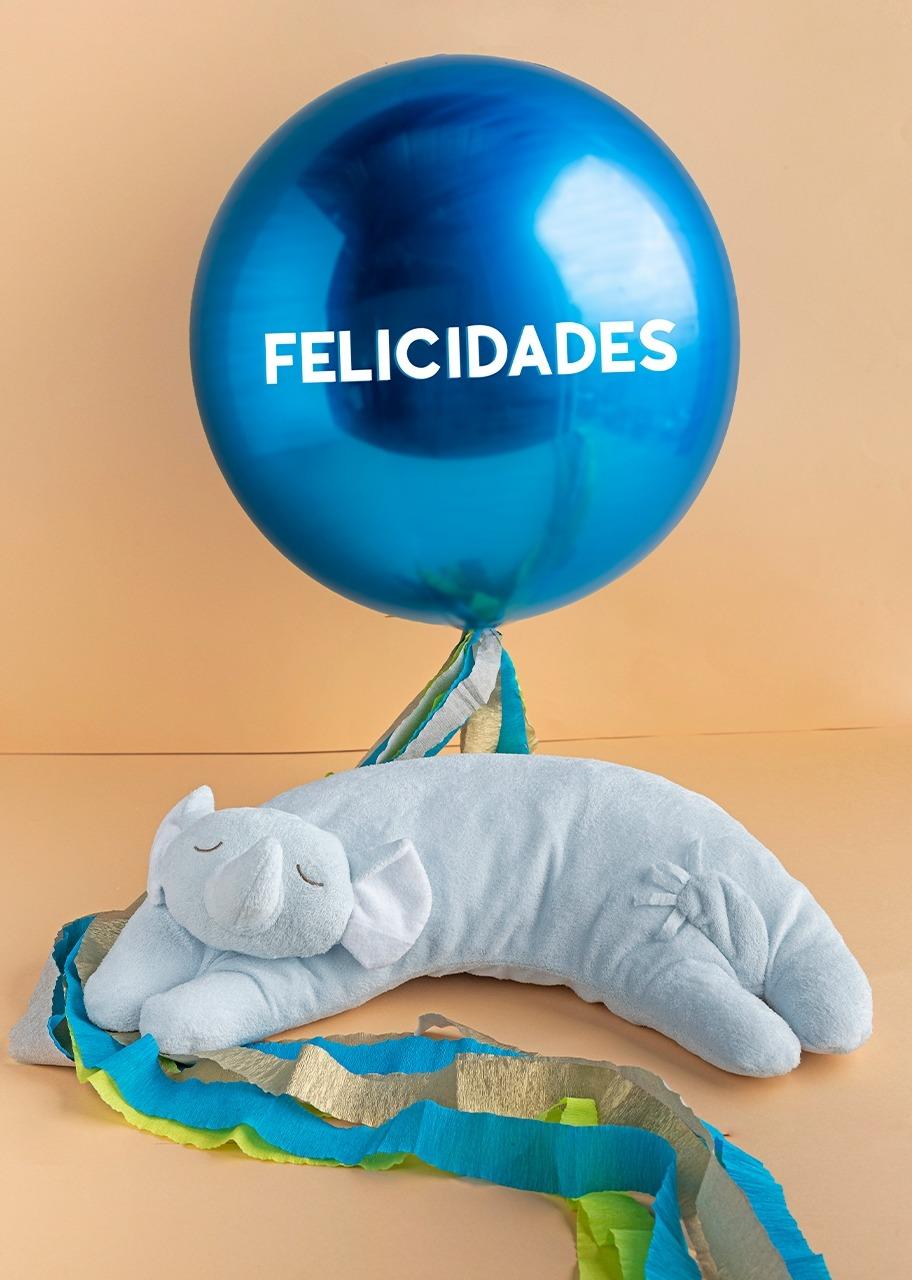 """Imagen para Almohada para bebé azul y Globo """"Felicidades"""" - 1"""