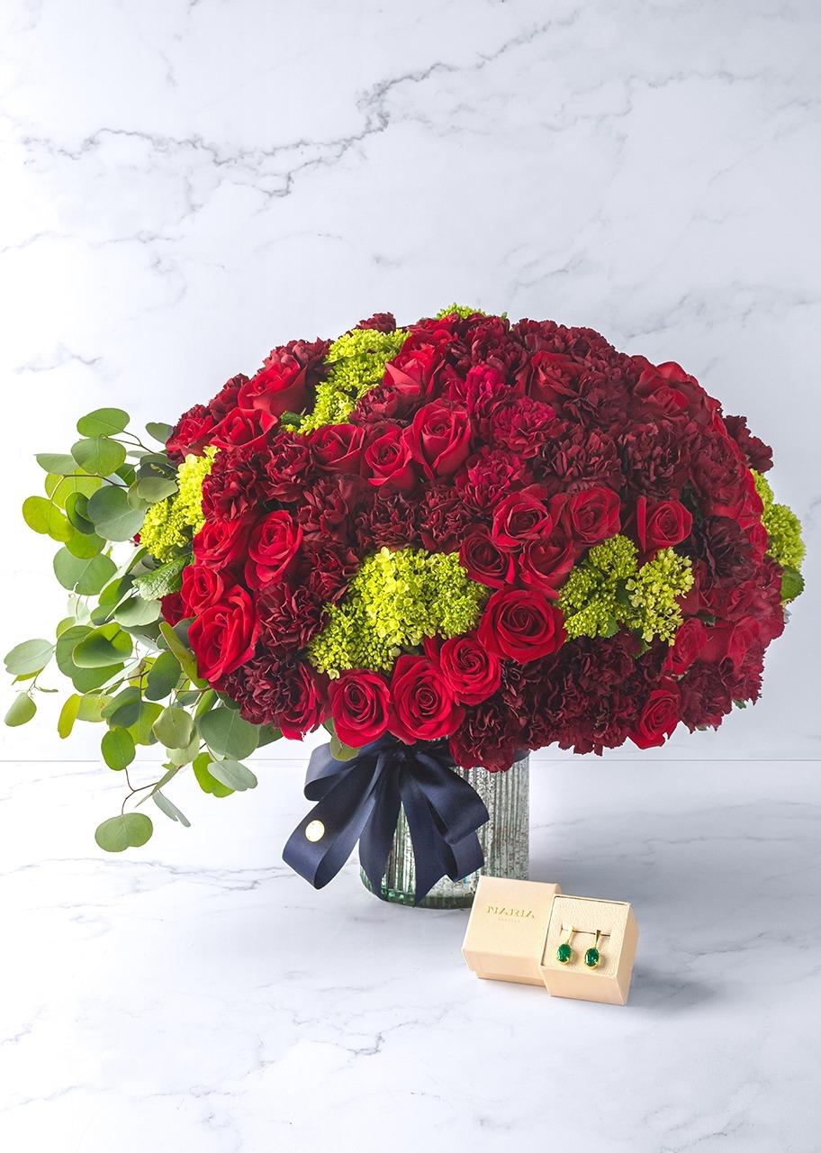Imagen para Aretes con arreglo de flor - 1