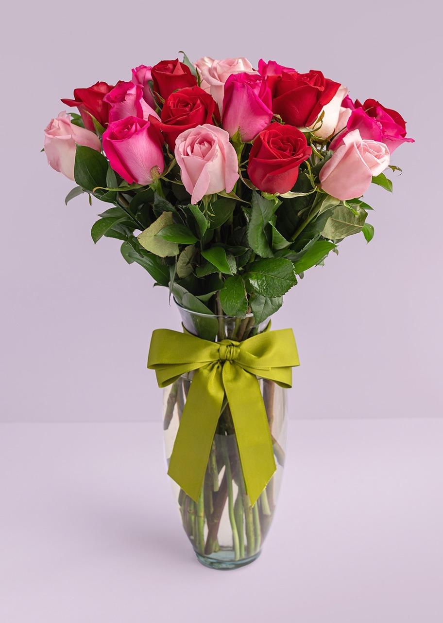 Imagen para Arreglo de 24 rosas mi dulce corazón - 1