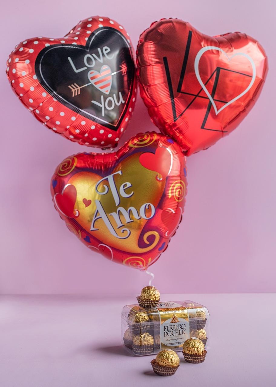 Imagen para Arreglo de Globos Amor con Ferrero - 1