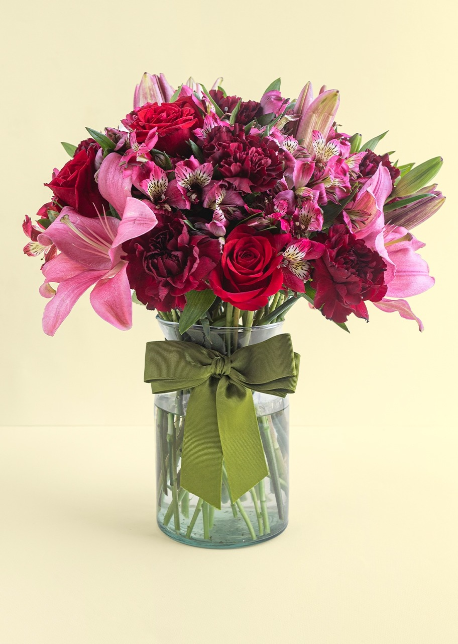 Imagen para Arreglo de Rosas con Lilys - 1