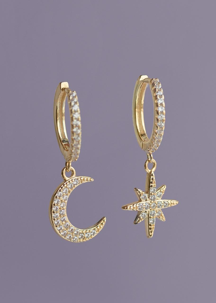 Imagen para Aretes Estrella y Luna Maxis - 1