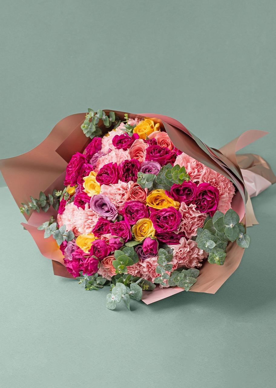 Imagen para Ramo grande de 16 rosas y mini rosas - 1