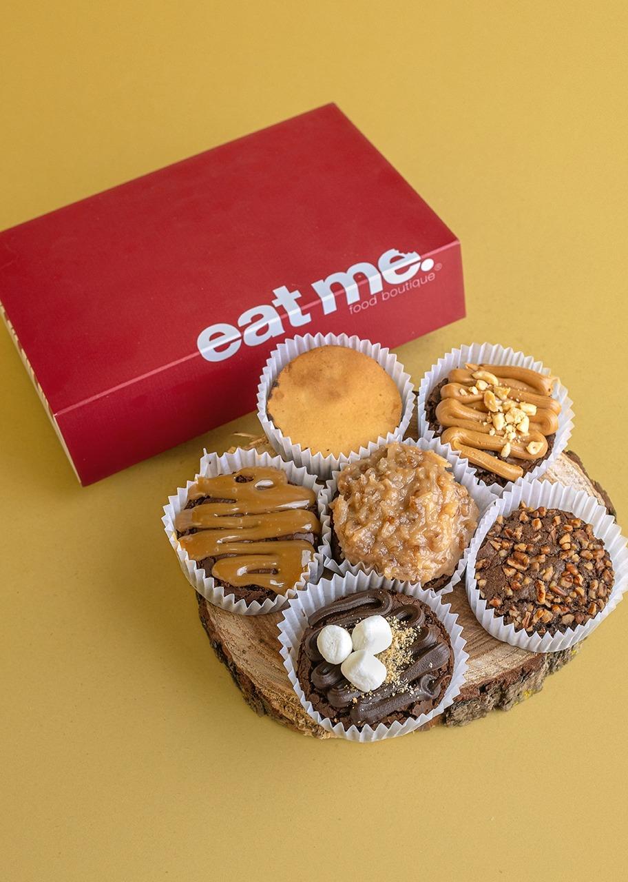 Imagen para 6 Christmas Brownies - 1
