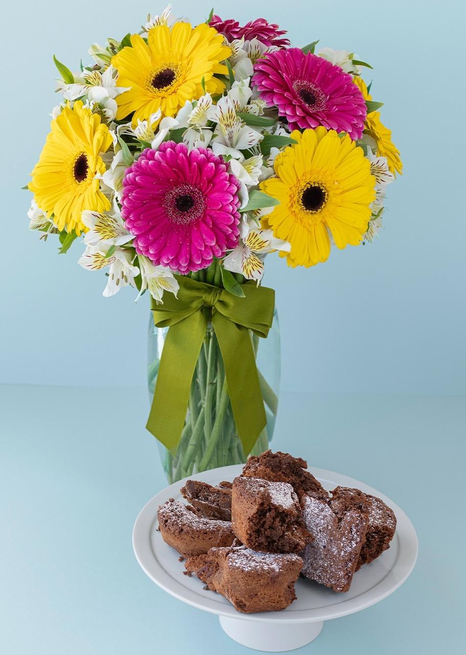 Imagen para Brownies 6 pz con Arreglo - 1