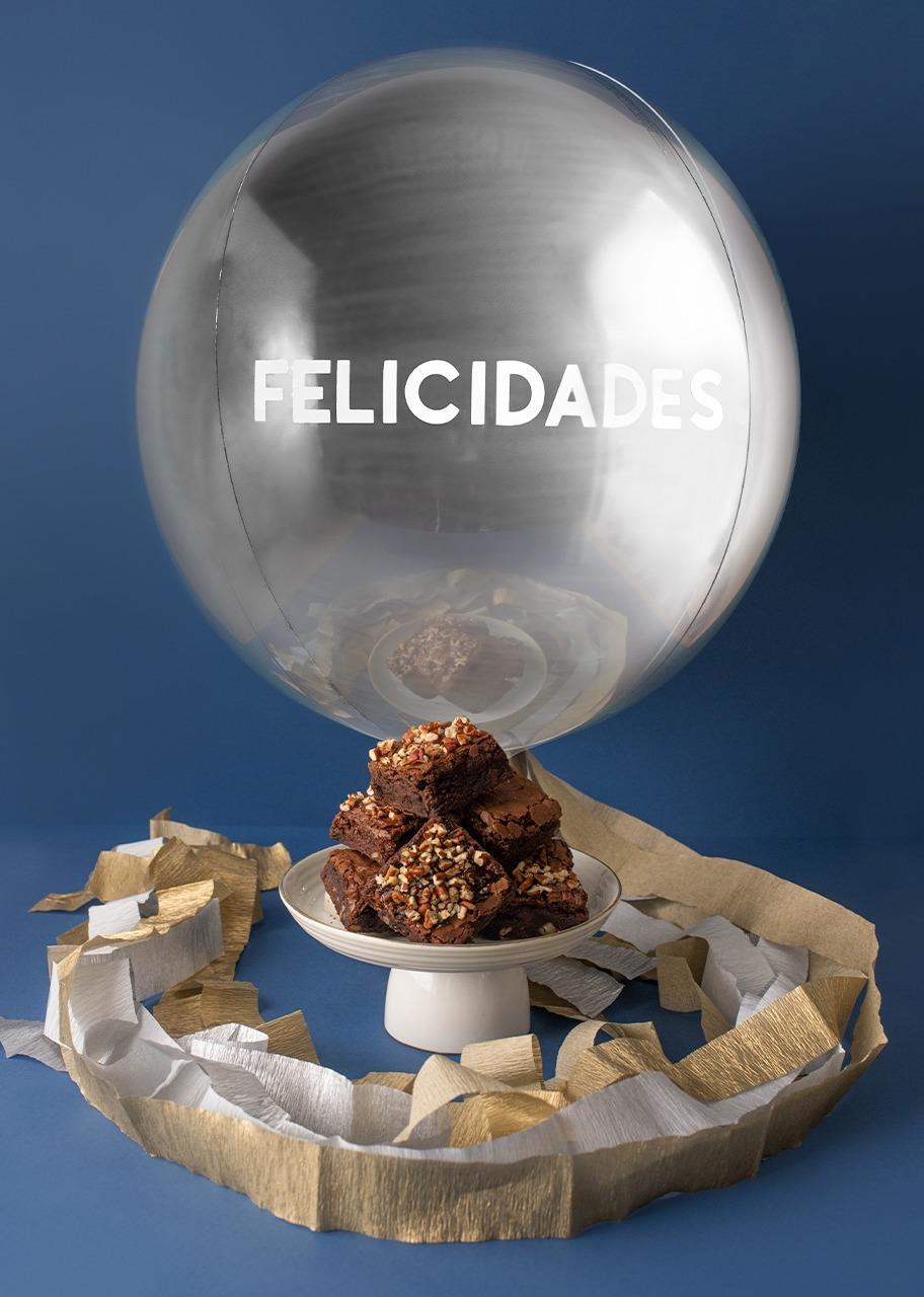 """Imagen para Brownies 6 pz con Globo """"Felicidades"""" - 1"""