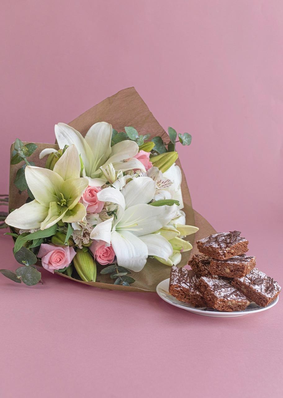 Imagen para Brownies 6 pz con Ramo - 1