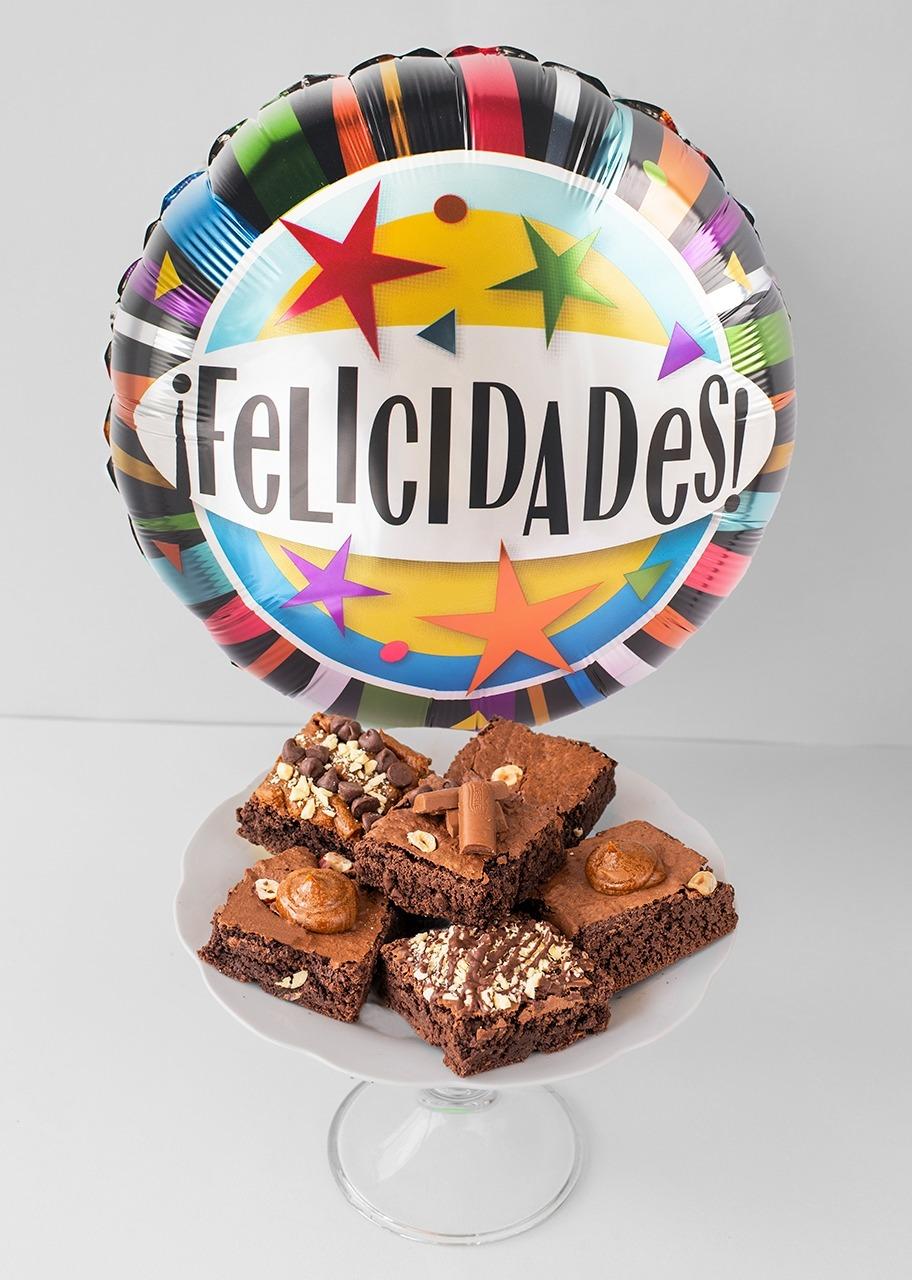 Imagen para Brownies 6 pz y Globo Felicidades - 1