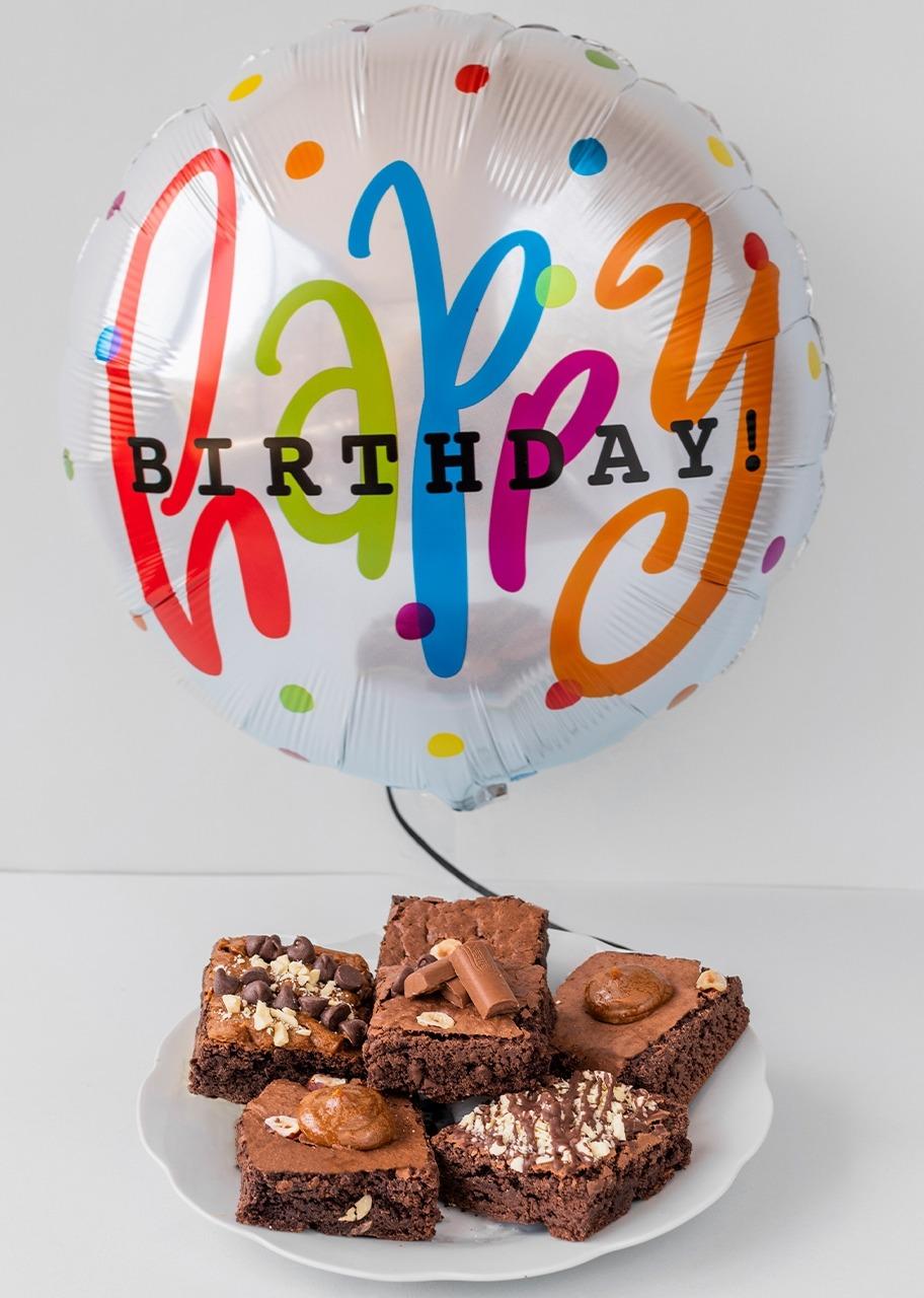Imagen para Brownies 6 pzs con Globo de Cumpleaños - 1