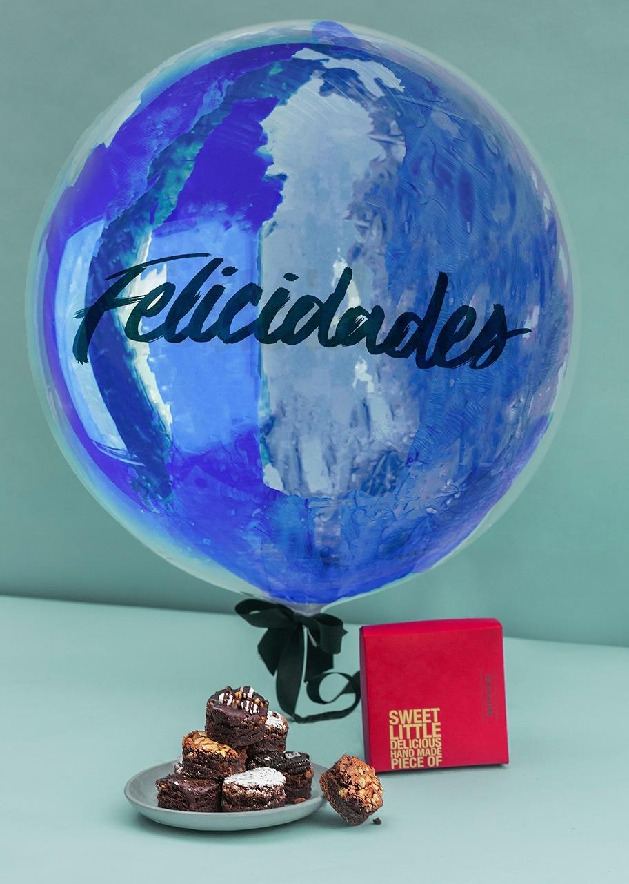 Imagen para Brownies 8 pz con Globo Burbuja - 1