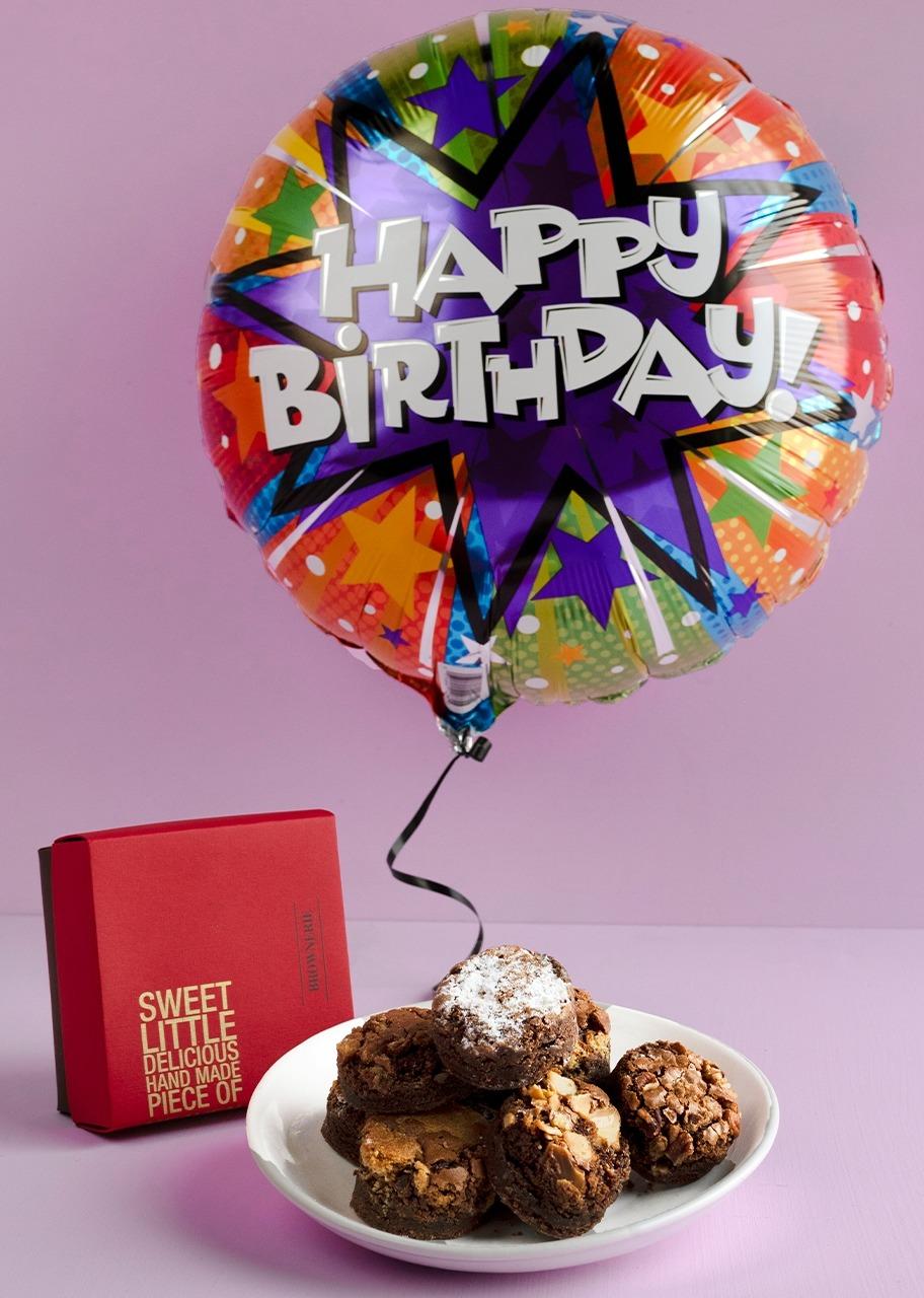 """Imagen para Brownies de 8 pz con Globo 18"""" Cumpleaños - 1"""
