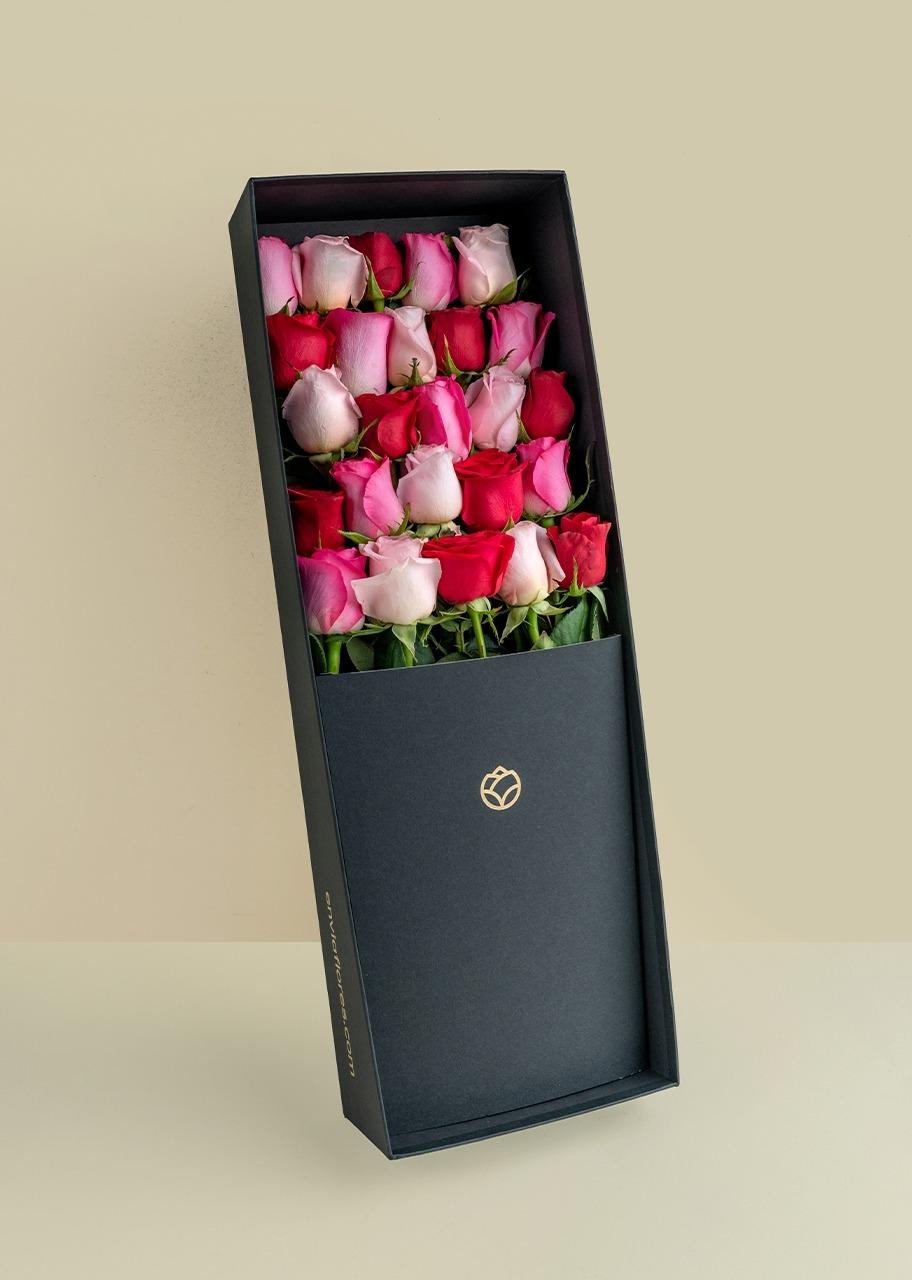 Imagen para 25 rosas coloridas en caja - 1