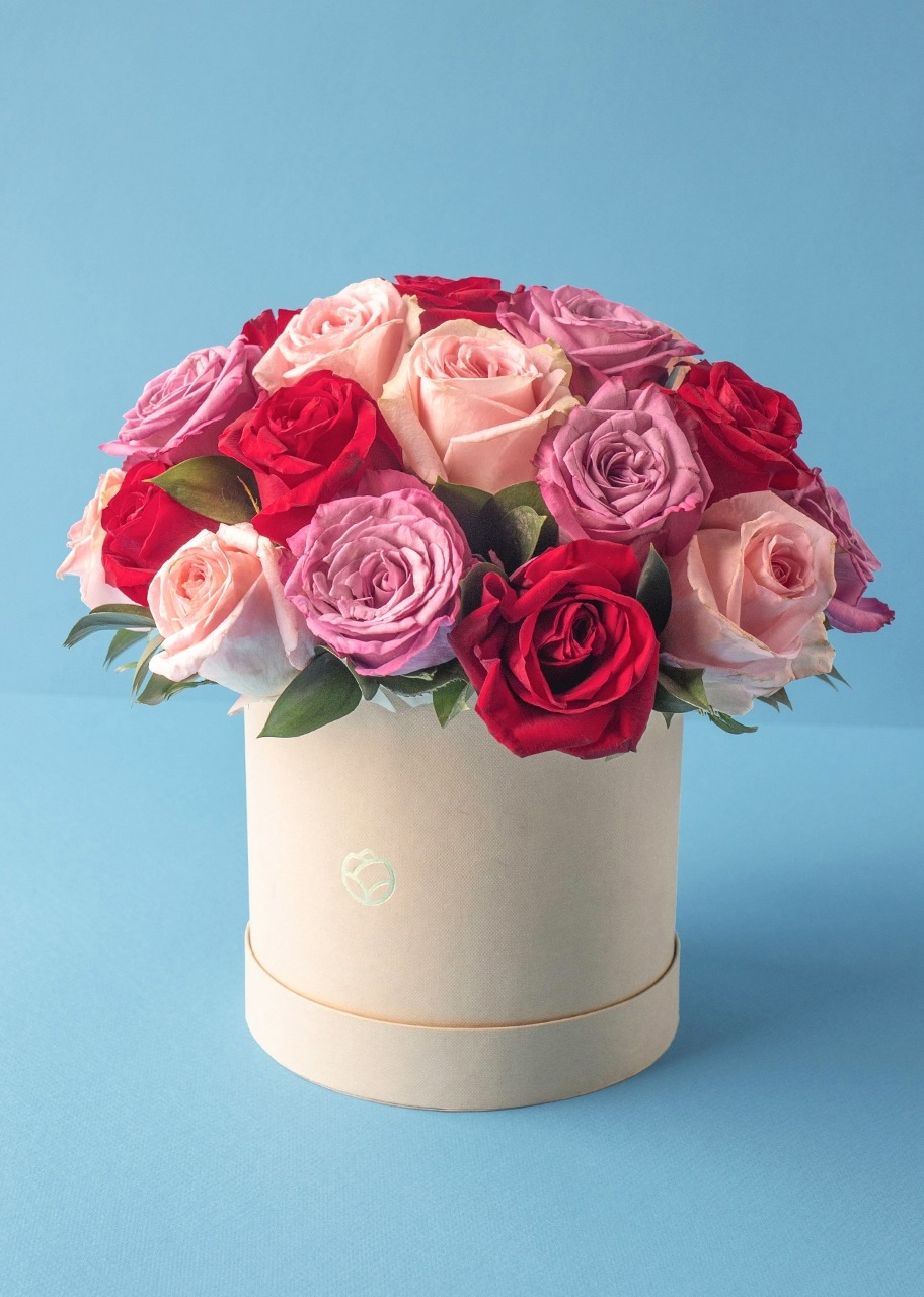 Imagen para 24 Rosas combinadas en caja - 1