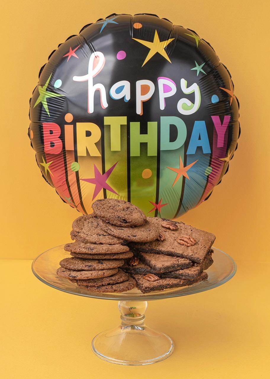 """Imagen para Caja de Chocochips y Brownies con Globo """"Cumpleaños"""" - 1"""