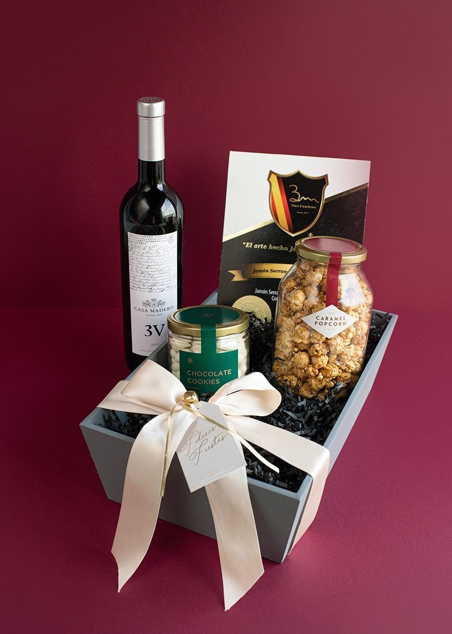 Imagen para Canasta Gourmet con Vino 3V - 1