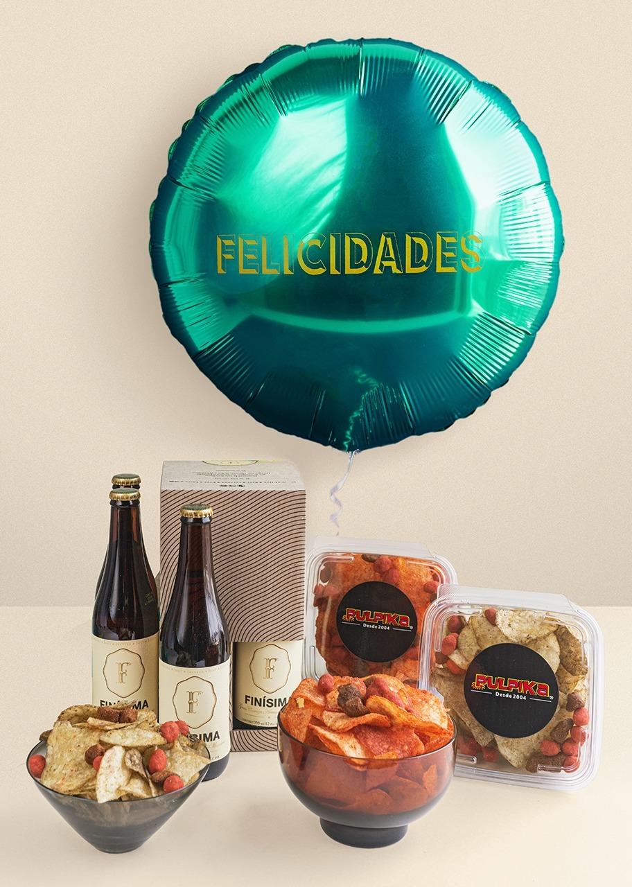 Imagen para Cerveza Finísima con Botanas Pulpika y Globo - 1