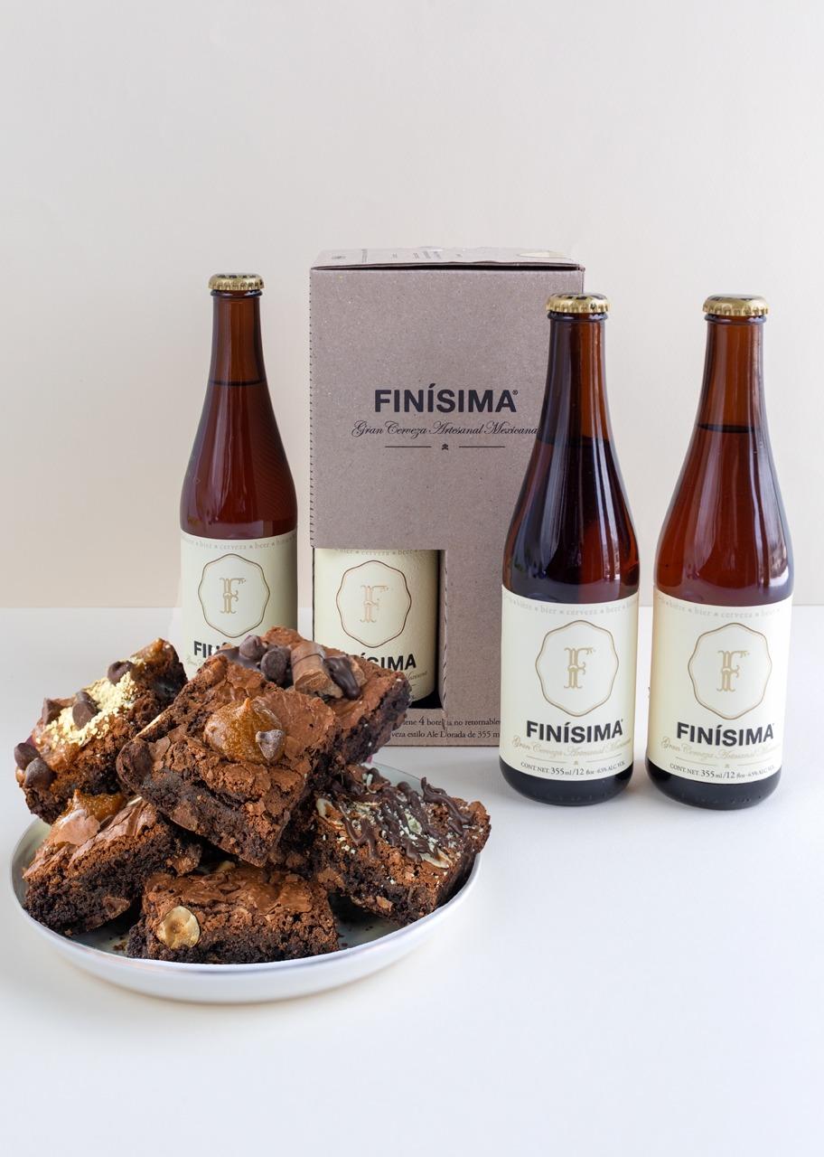 Imagen para Cerveza Finísima con Brownies 6 pz - 1