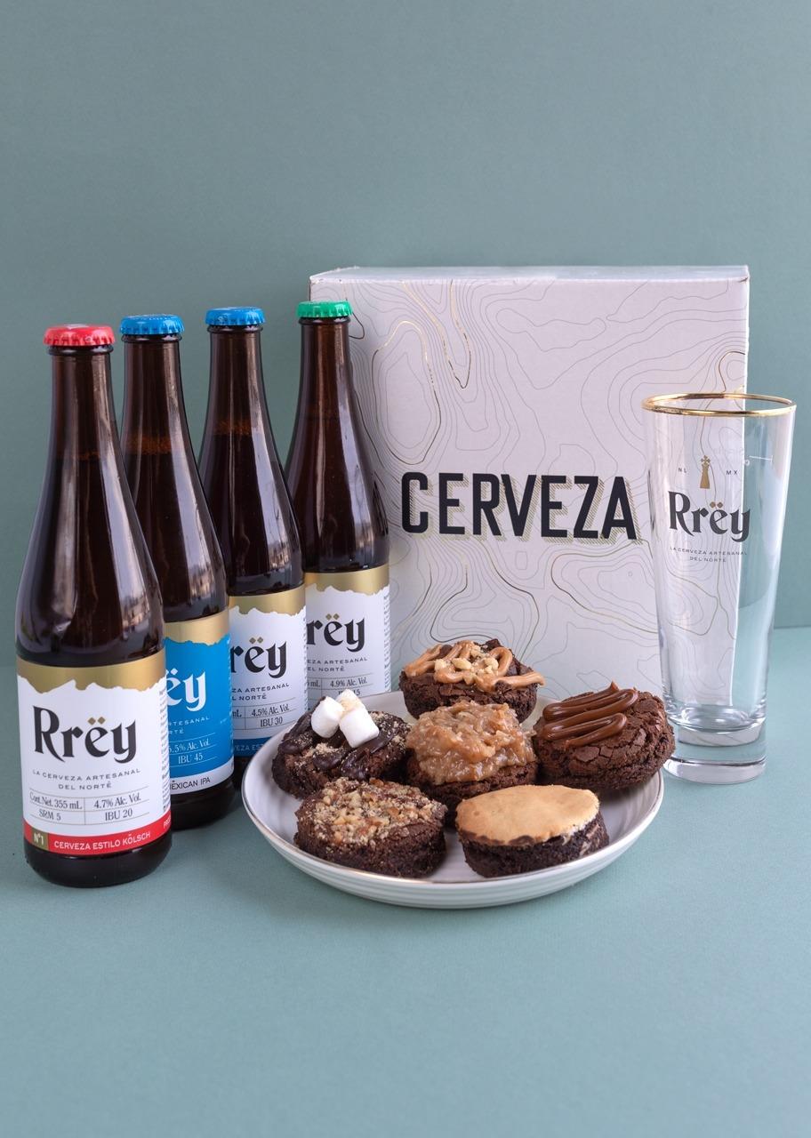 Imagen para Cerveza Rrey con Brownies 6 pz - 1