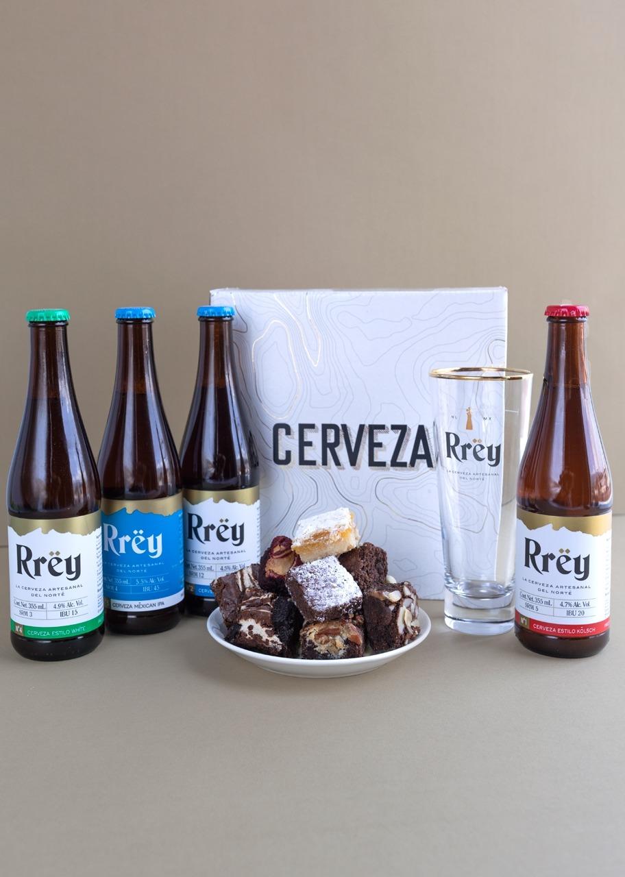 Imagen para Cerveza Rrey con Brownies 8 pz - 1