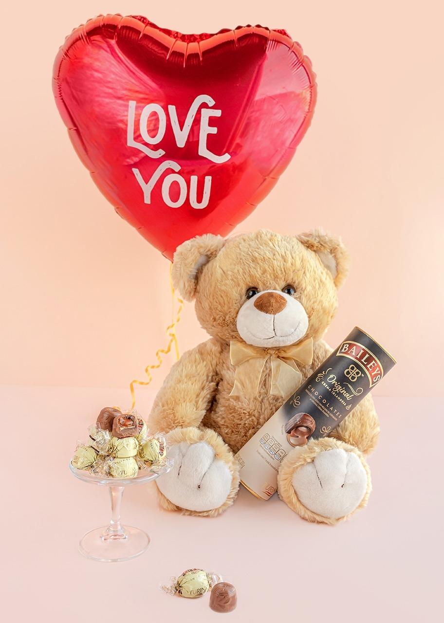 Imagen para Chocolates Baileys con Oso de Peluche y Globo - 1